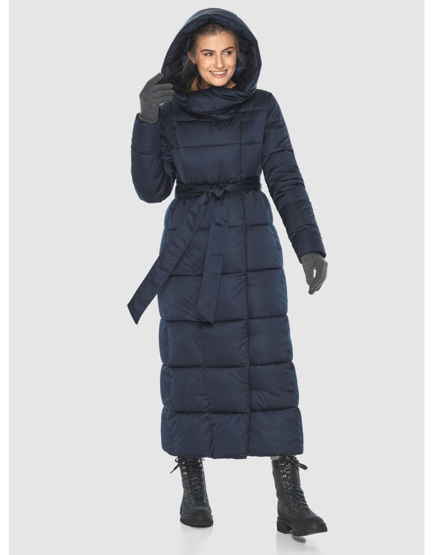 Куртка стильная длинная синяя Ajento женская 22356 фото 3