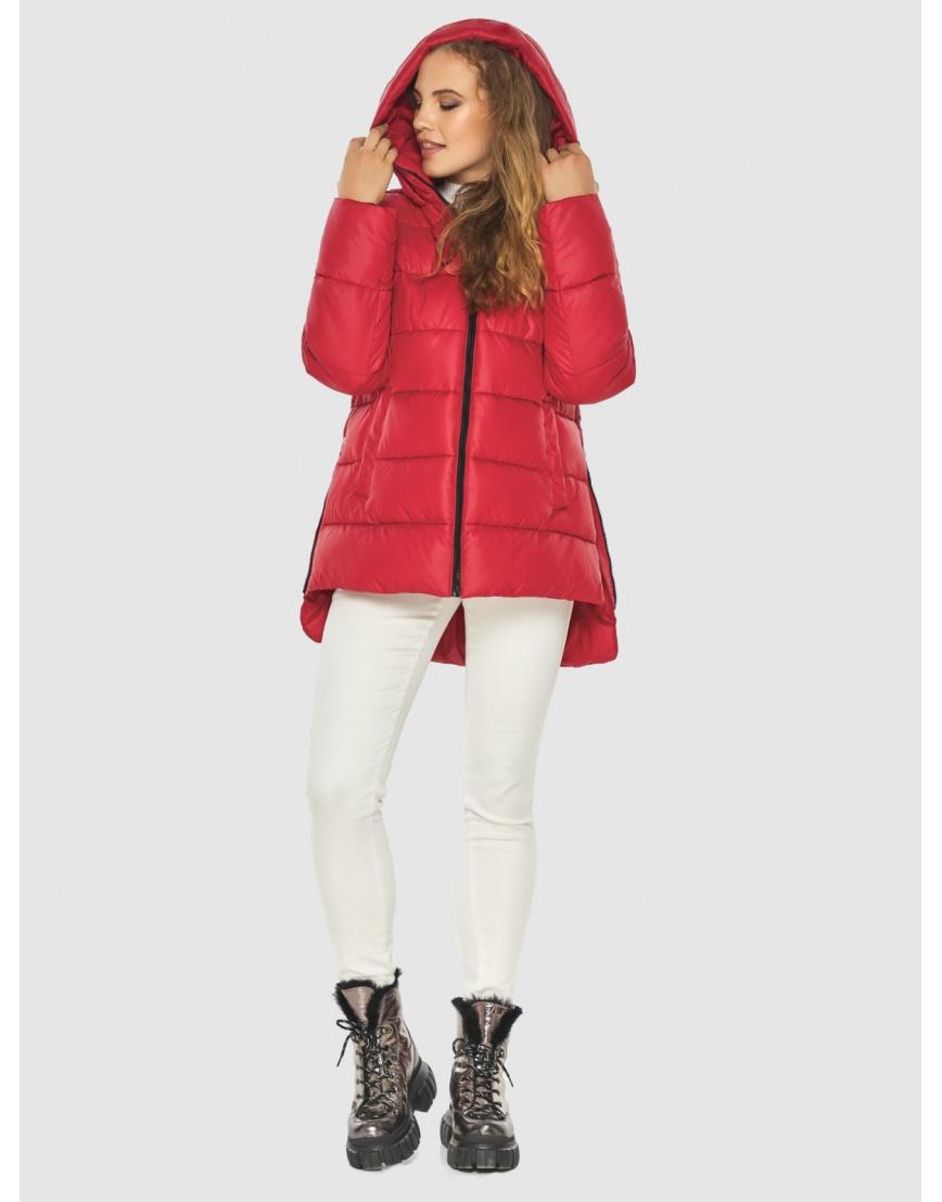 Зимняя комфортная красная куртка подростковая Kiro Tokao 60041 фото 6