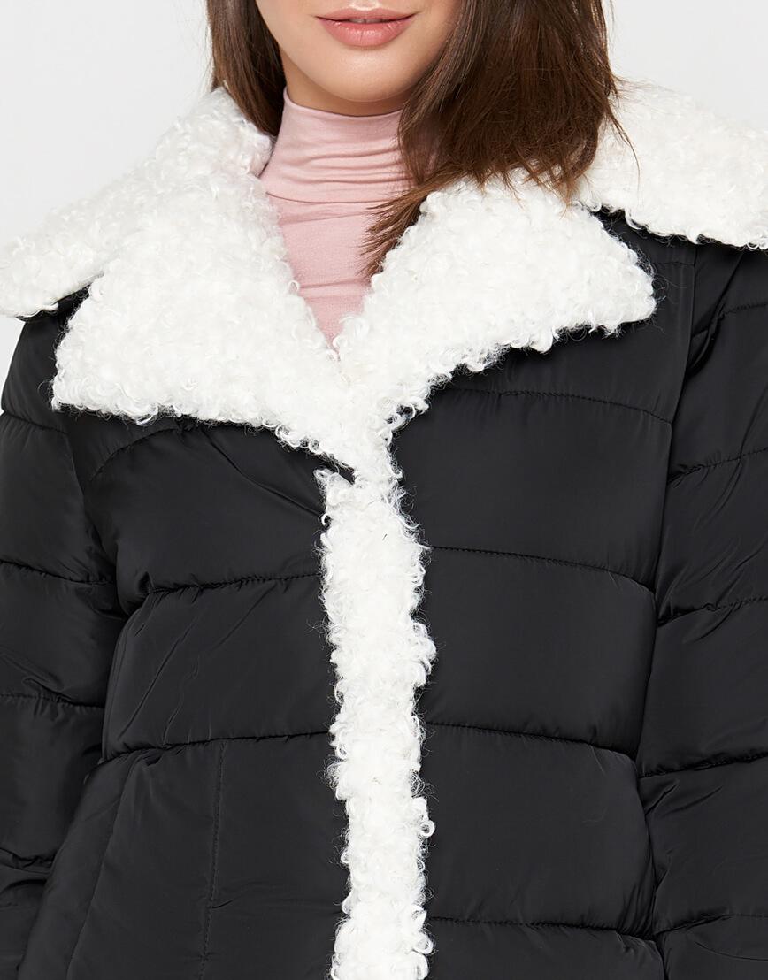 Куртка теплая черная женская модель 2162 фото 5