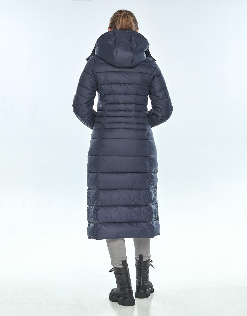 Зимняя женская куртка модная Ajento синяя 21375 фото 3