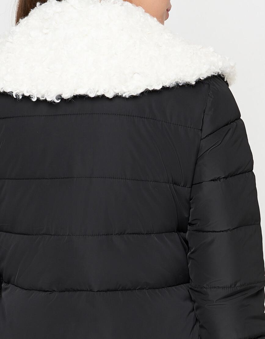 Куртка теплая черная женская модель 2162 фото 6