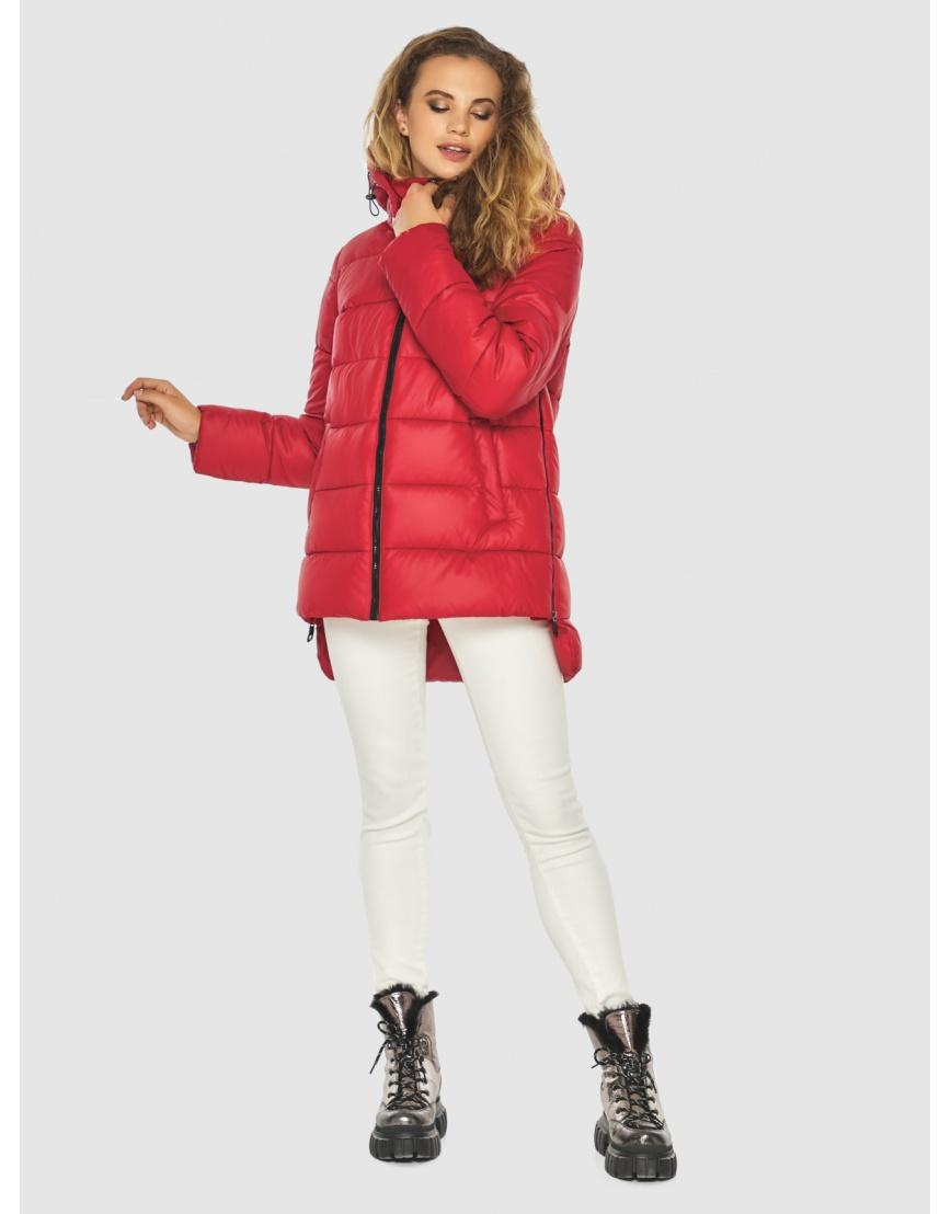 Зимняя комфортная красная куртка подростковая Kiro Tokao 60041 фото 5