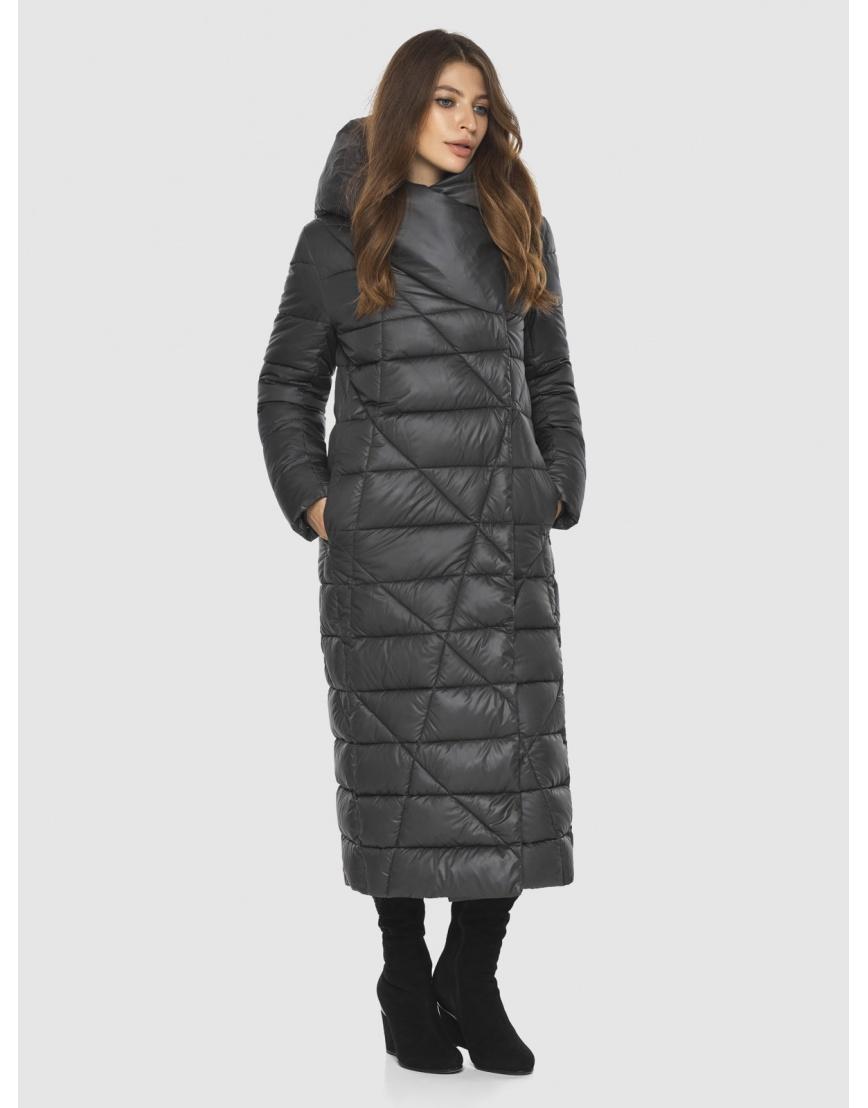 Стильная серая подростковая куртка Ajento зимняя 23795 фото 3