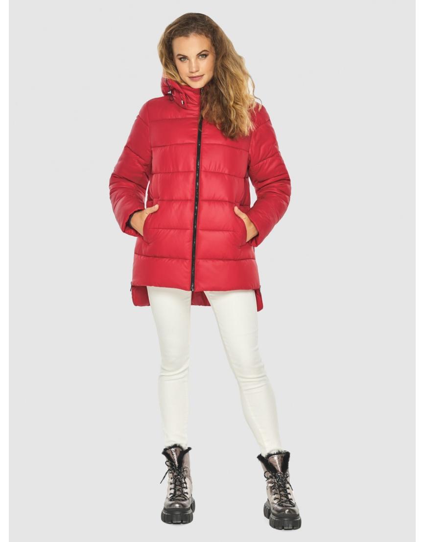 Зимняя комфортная красная куртка подростковая Kiro Tokao 60041 фото 3