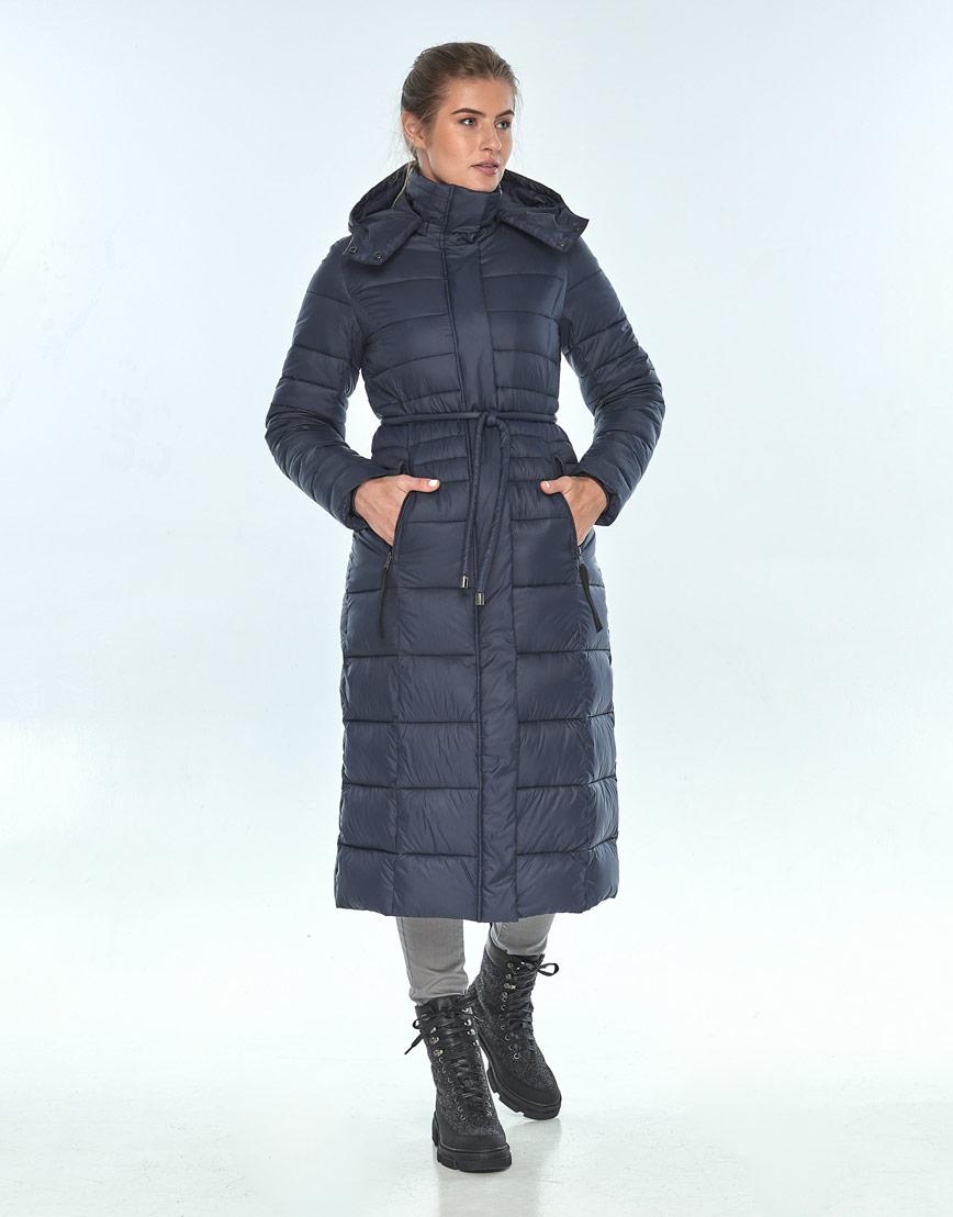 Зимняя женская куртка модная Ajento синяя 21375 фото 2