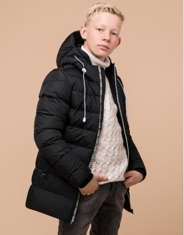 Оригинальная черная детская куртка модель 65028 оптом фото 1
