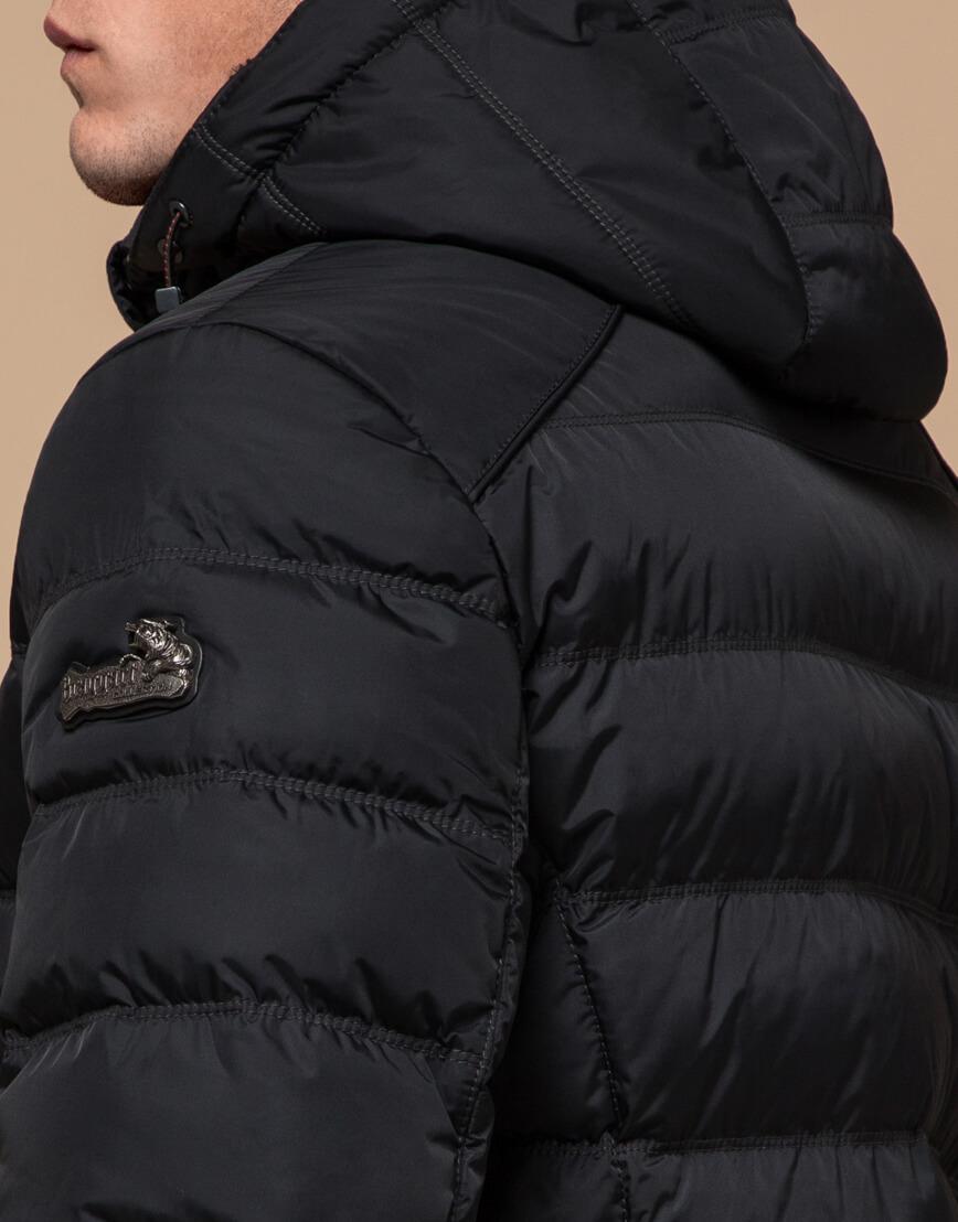 Мужская графитовая куртка на зиму модель 24324 оптом фото 6