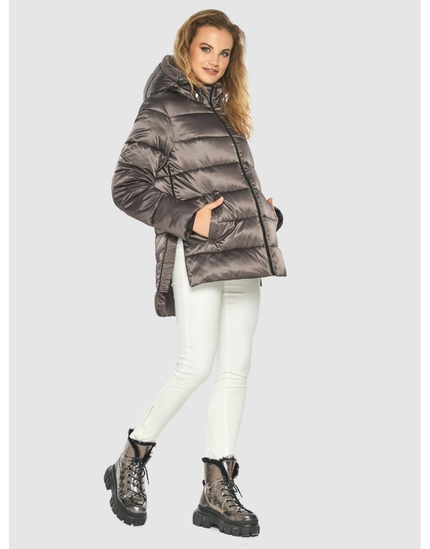 Подростковая куртка Kiro Tokao капучиновая зимняя модная 60041 фото 2