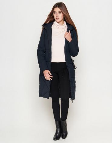 Женская темно-синяя молодежная элегантная куртка модель 25495