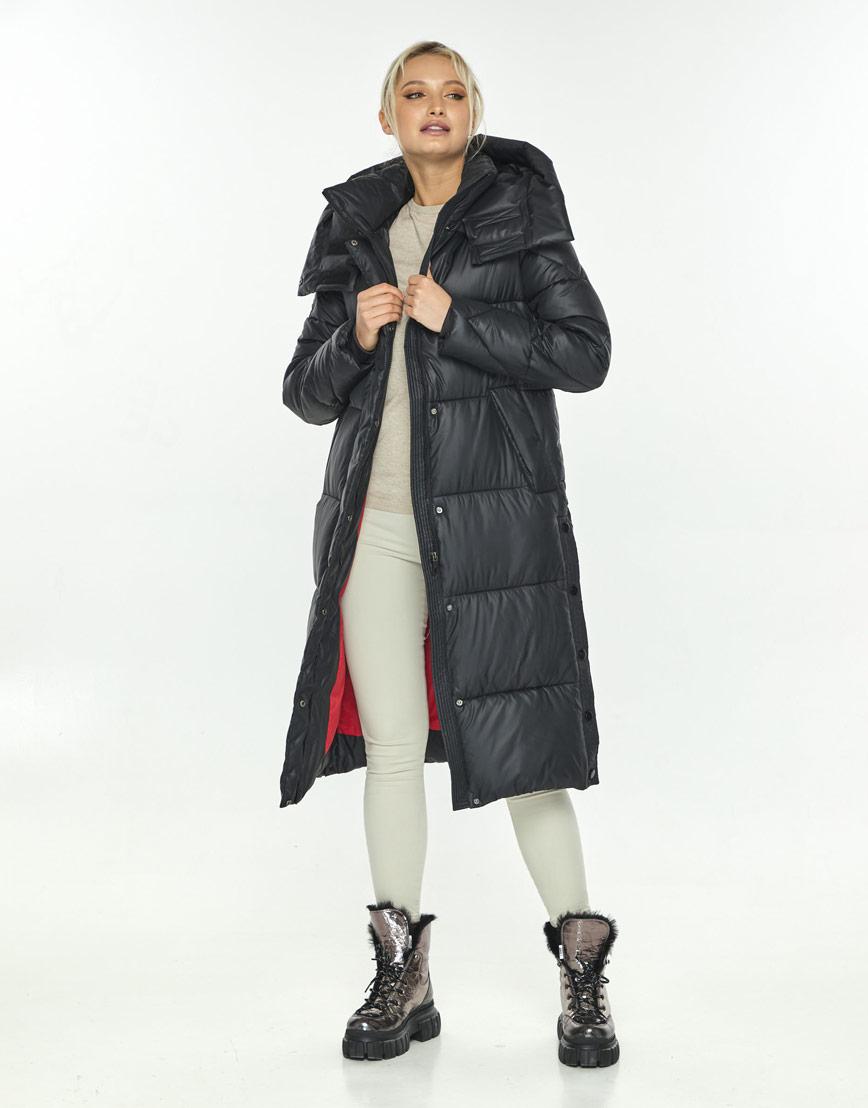Чёрная длинная куртка женская Kiro Tokao 60024 фото 1
