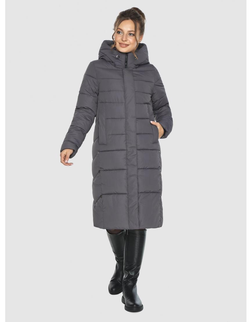 Женская длинная серая куртка Ajento 22975 фото 2