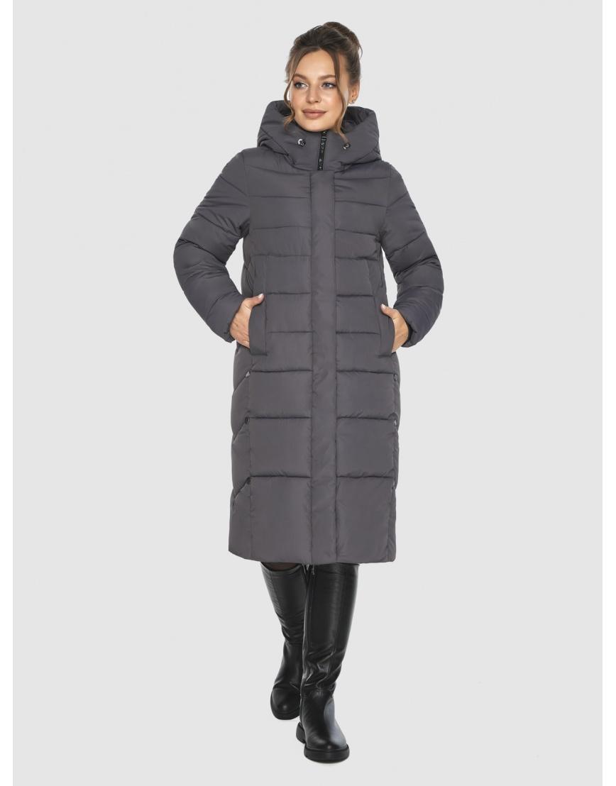 Женская длинная серая куртка Ajento 22975 фото 6
