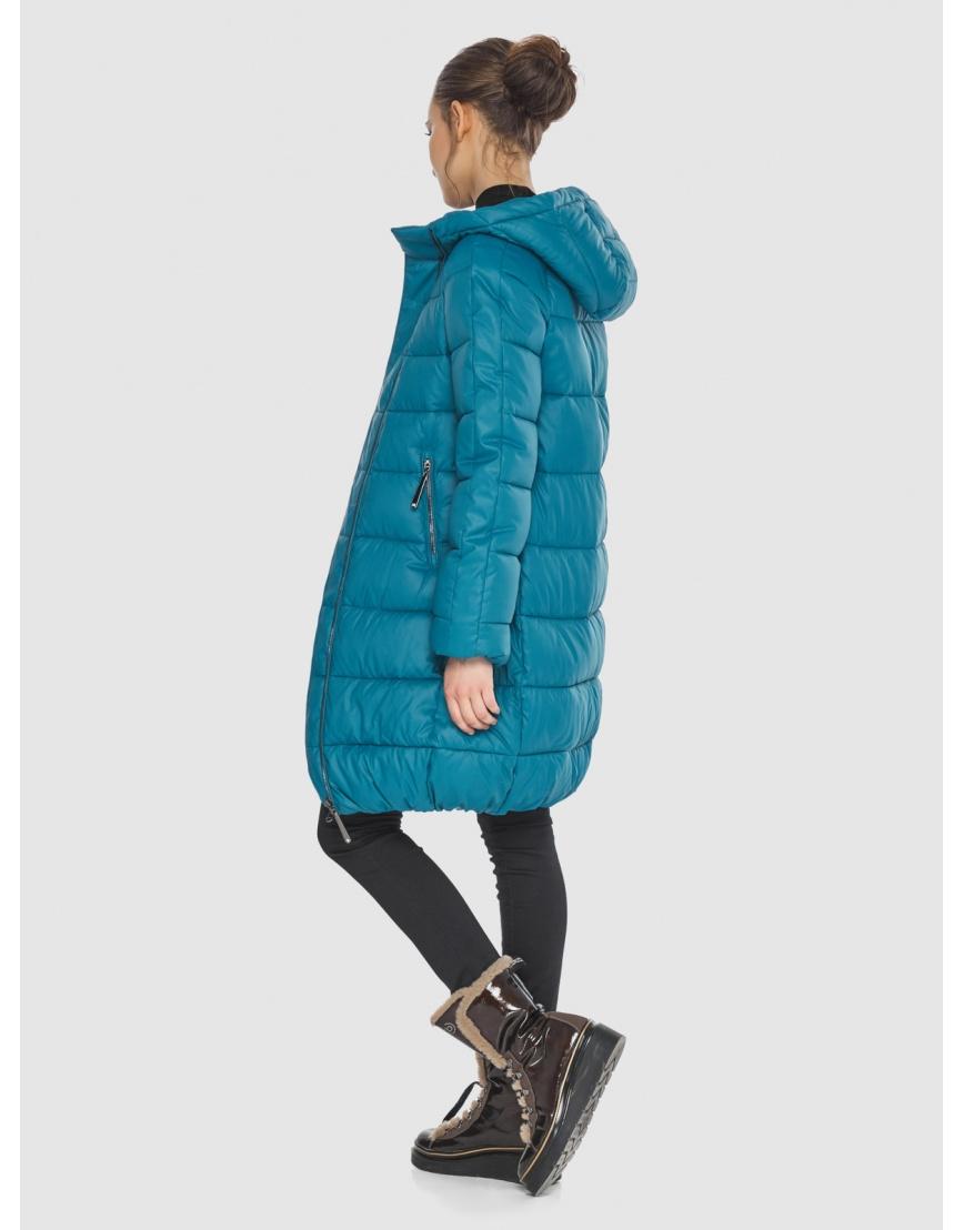 Аквамариновая куртка модная женская Wild Club 526-10 фото 4