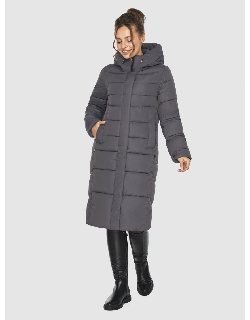 Женская длинная серая куртка Ajento 22975 фото 3