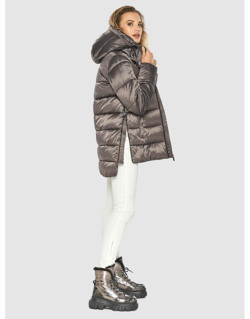 Подростковая куртка Kiro Tokao капучиновая зимняя модная 60041 фото 5
