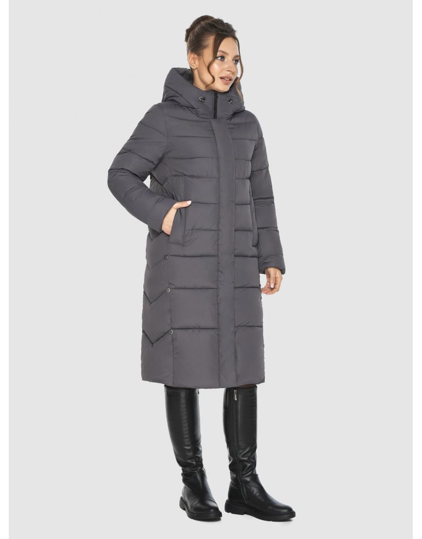 Женская длинная серая куртка Ajento 22975 фото 5