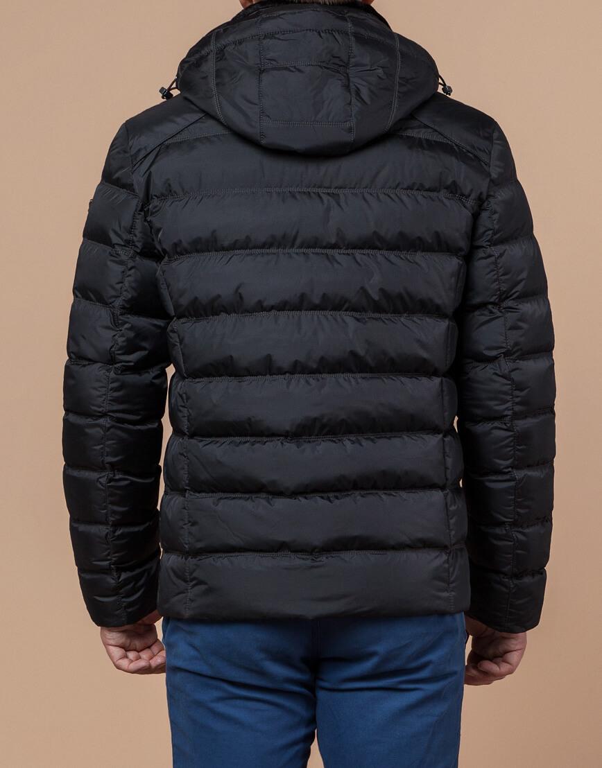 Мужская графитовая куртка на зиму модель 24324 оптом фото 3