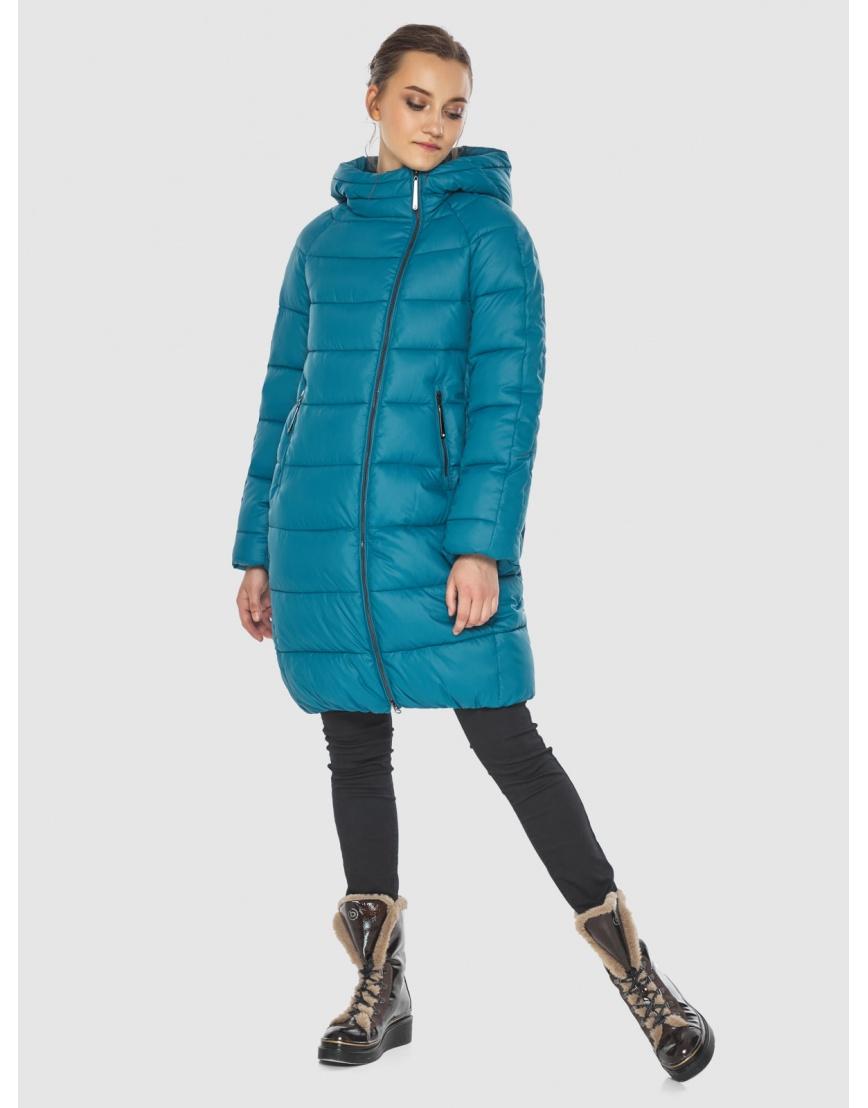Аквамариновая куртка модная женская Wild Club 526-10 фото 6