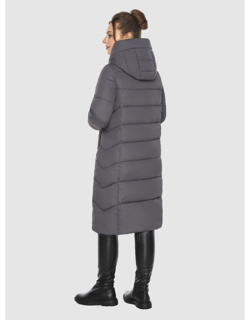 Женская длинная серая куртка Ajento 22975 фото 4