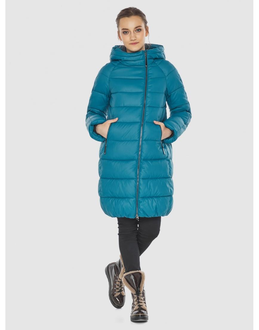 Аквамариновая куртка модная женская Wild Club 526-10 фото 5