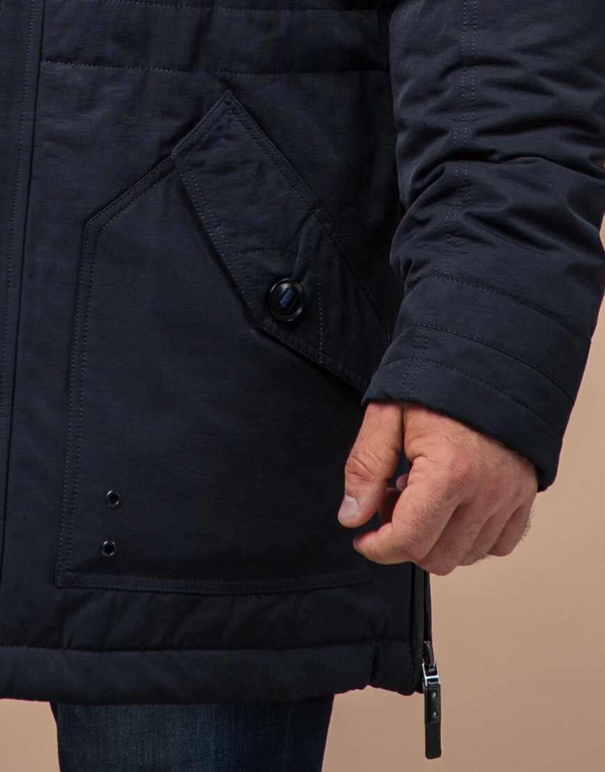 Зимняя куртка для мужчин цвет темно-синий модель 45777 оптом
