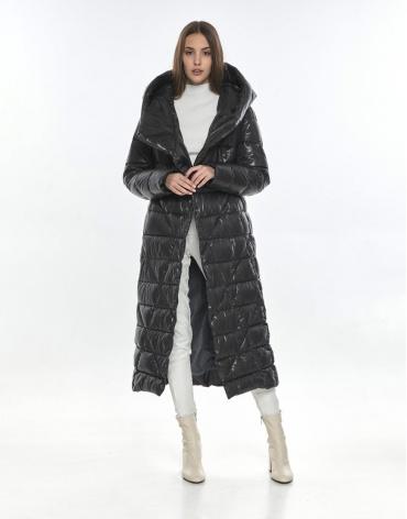 Женская длинная куртка Vivacana серая 9470/21 фото 1