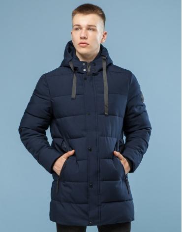 Стильная темно-синего цвета куртка модель 6005 оптом