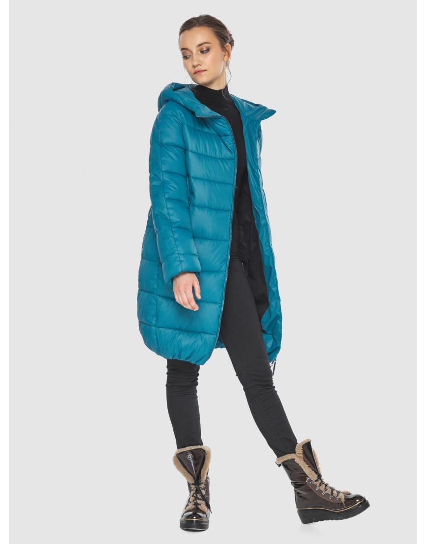 Аквамариновая куртка модная женская Wild Club 526-10 фото 2
