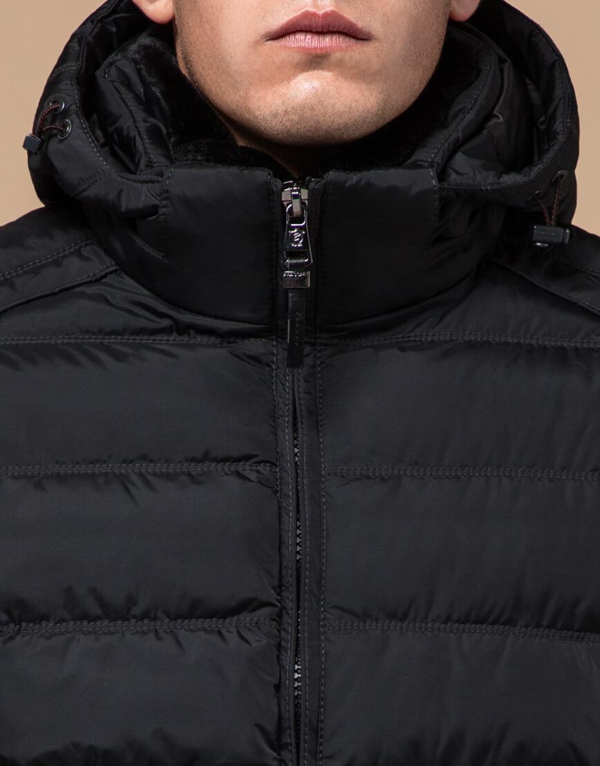 Мужская графитовая куртка на зиму модель 24324 оптом фото 4