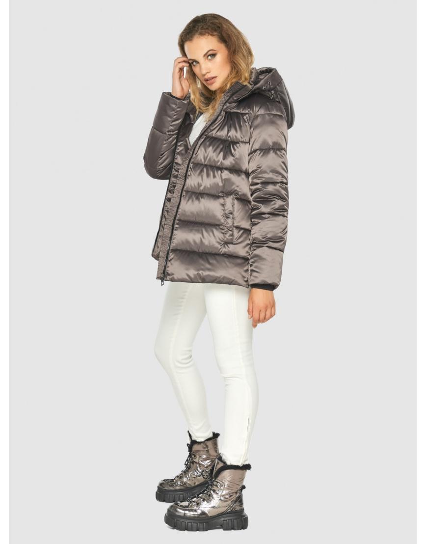 Подростковая куртка Kiro Tokao капучиновая зимняя модная 60041 фото 3