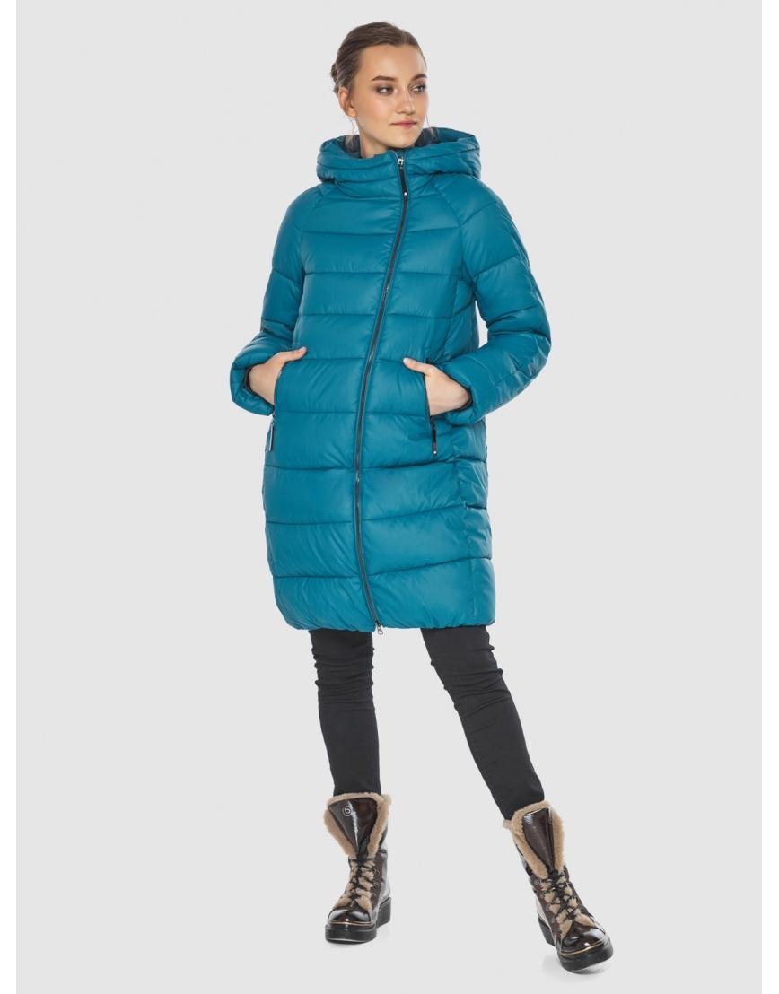 Аквамариновая куртка модная женская Wild Club 526-10 фото 1