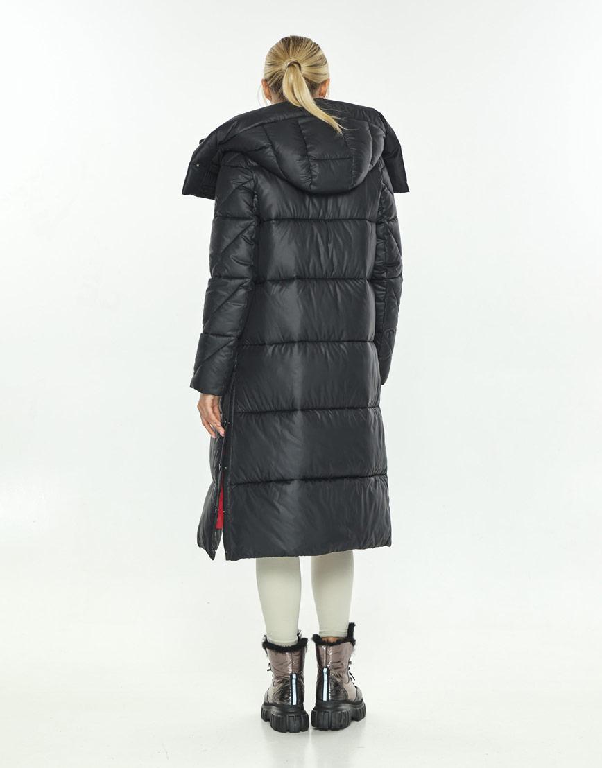 Чёрная длинная куртка женская Kiro Tokao 60024 фото 3
