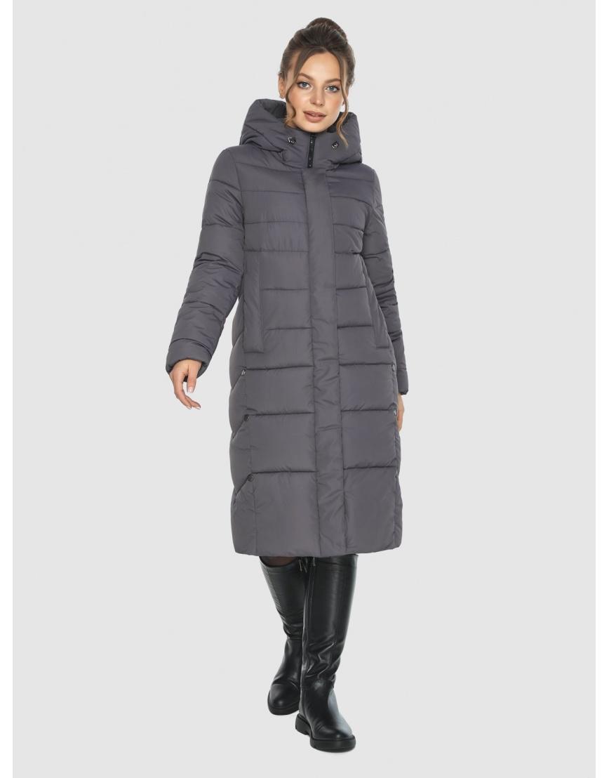 Женская длинная серая куртка Ajento 22975 фото 1