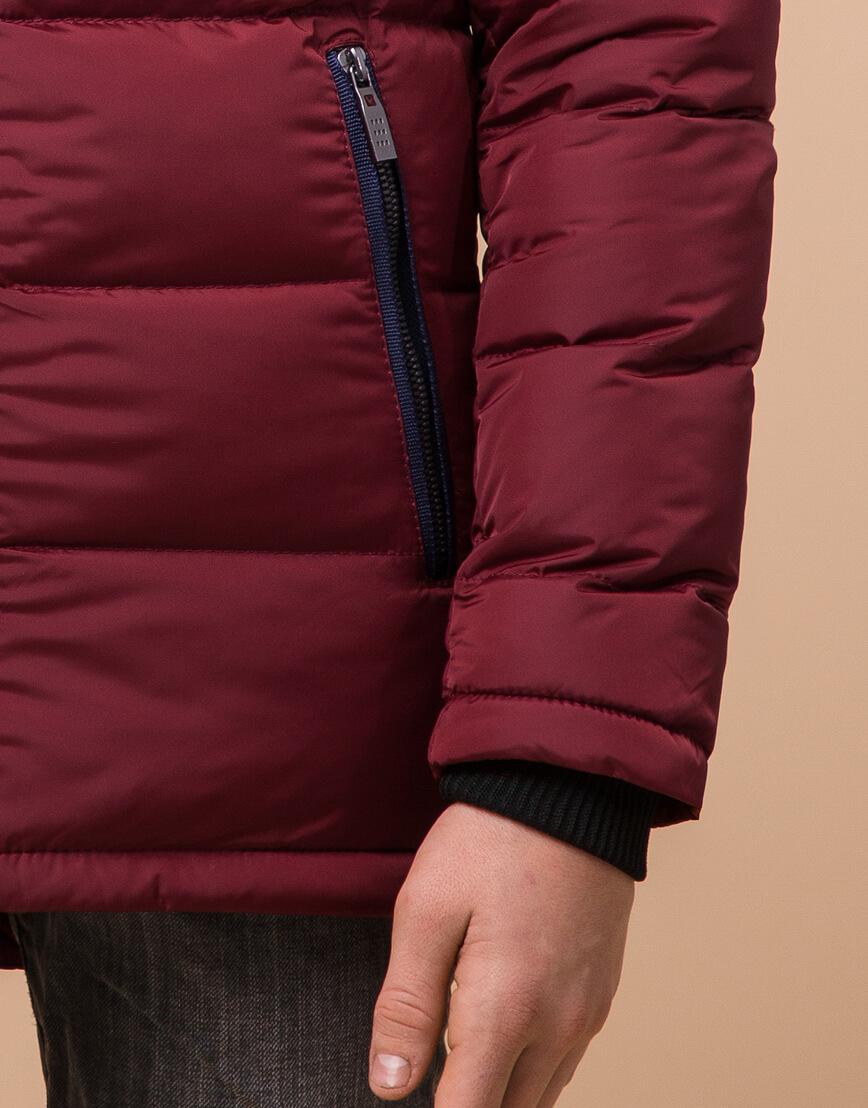 Комфортная детская бордовая куртка модель 60455 оптом