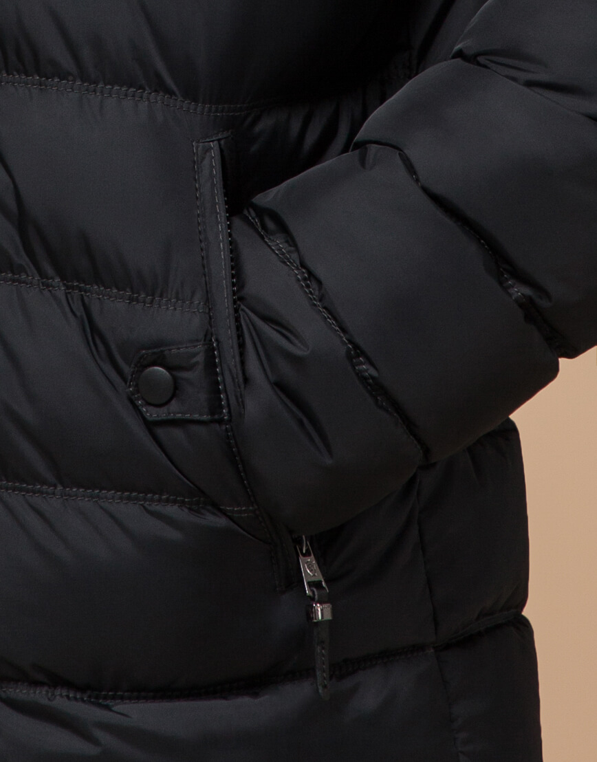 Мужская графитовая куртка на зиму модель 24324 оптом фото 5