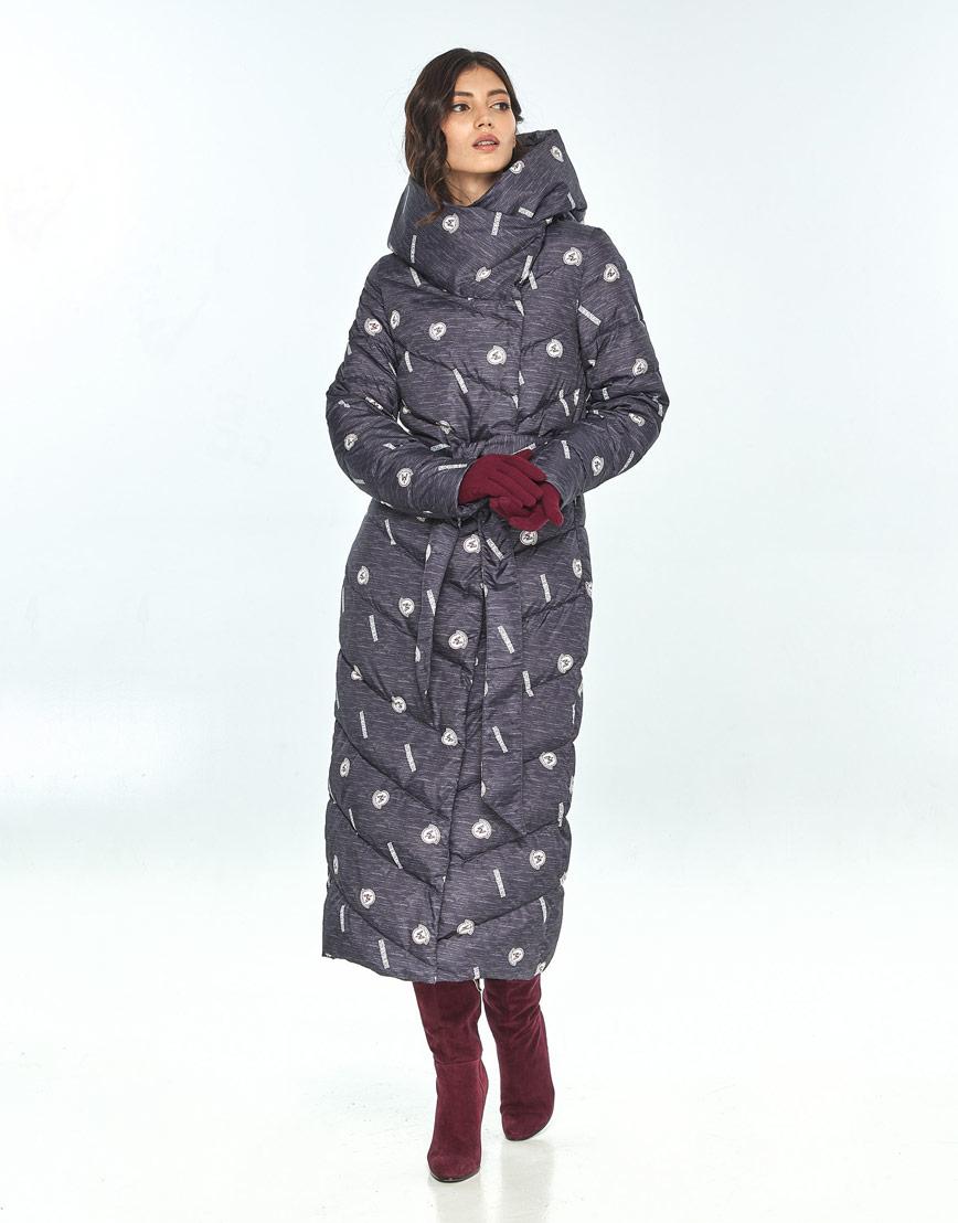 Длинная куртка с рисунком женская Vivacana 9405/21 фото 2