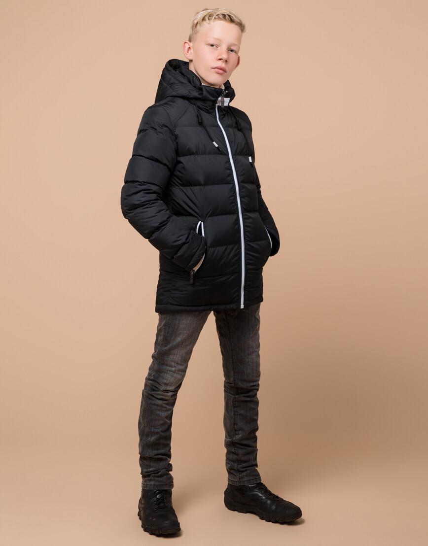 Куртка оригинальная детская цвет графит модель 60455 оптом фото 2