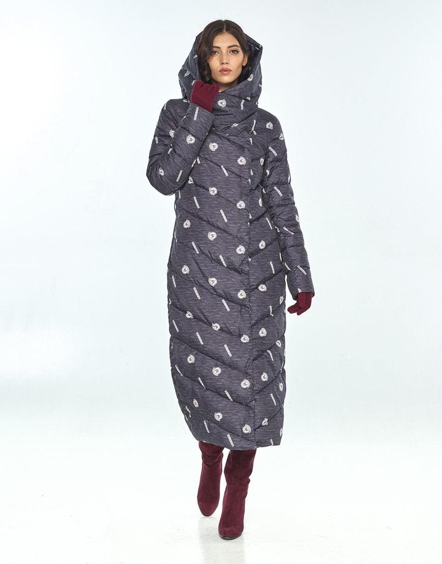 Длинная куртка с рисунком женская Vivacana 9405/21 фото 1