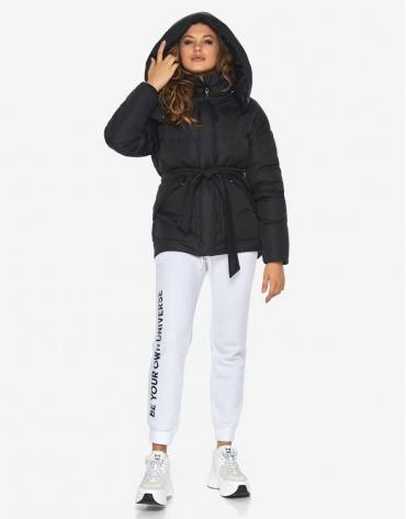 Пуховик куртка Youth комфортная черная женская модель 24350 фото 1