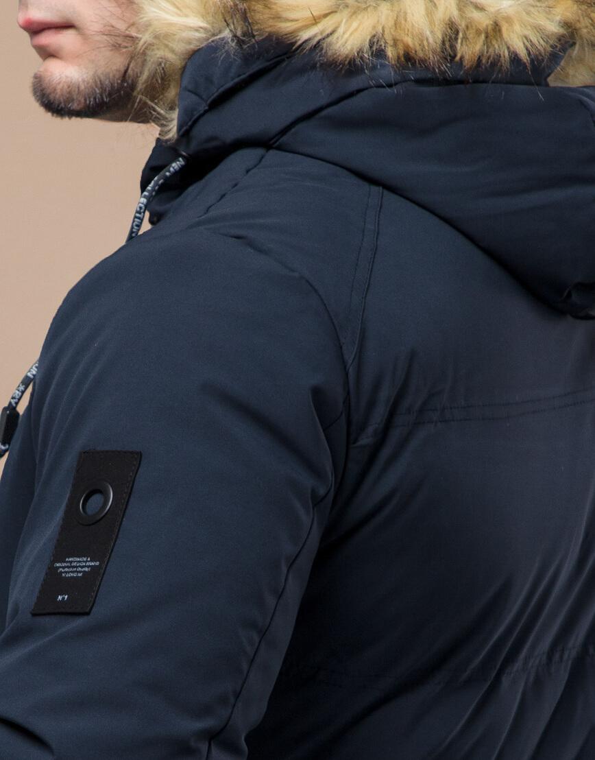 Темно-синяя куртка молодежная оригинальная модель 25270 фото 7