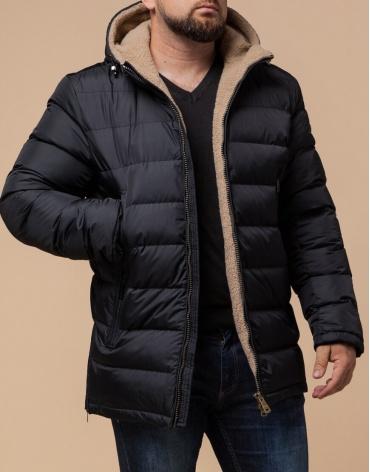 Черная мужская куртка брендовая модель 25285