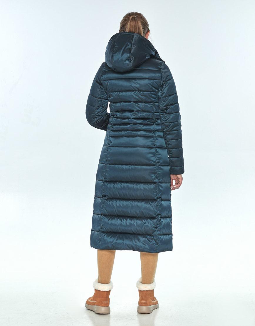 Зелёная куртка женская Ajento длинная на зиму 21375 фото 3