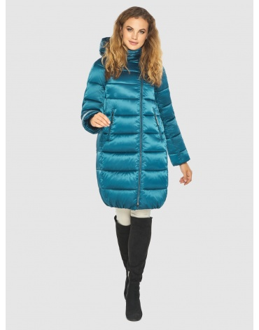 Трендовая аквамариновая куртка Kiro Tokao женская 60048 фото 1