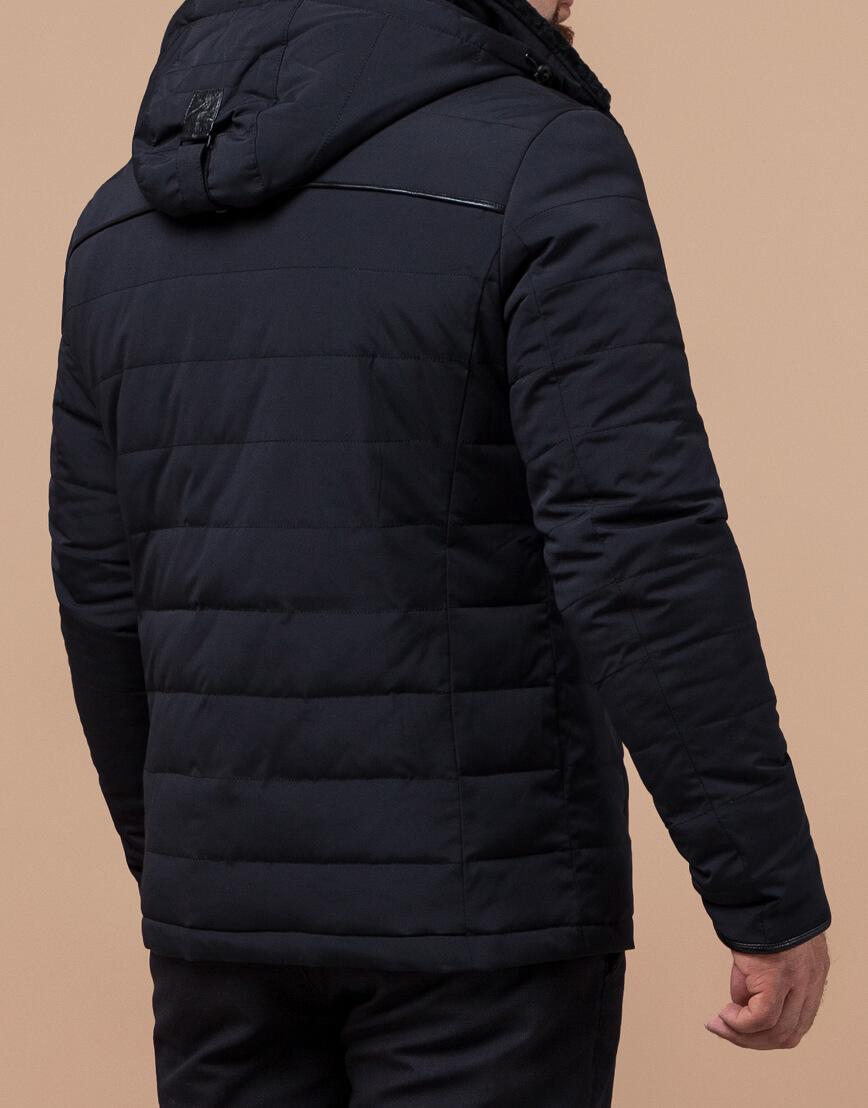 Куртка черно-синего цвета мужская на зиму модель TCX1001 оптом