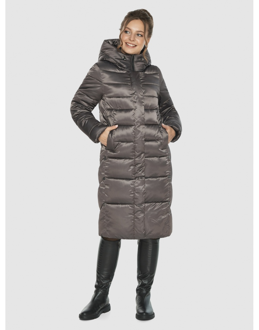 Куртка женская Ajento капучинового цвета 22975 фото 5