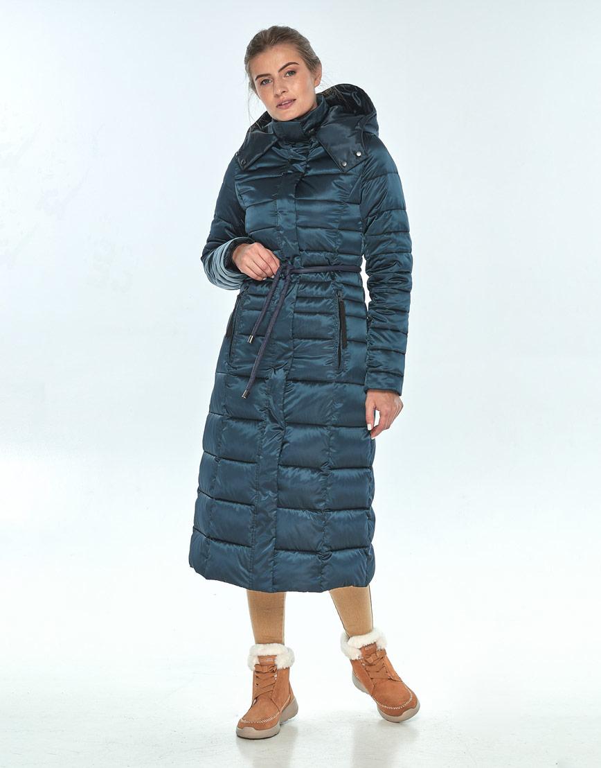 Зелёная куртка женская Ajento длинная на зиму 21375 фото 2