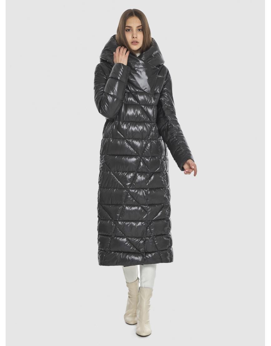 Тёплая зимняя куртка Vivacana на девушку-подростка серая 9470/21 фото 1