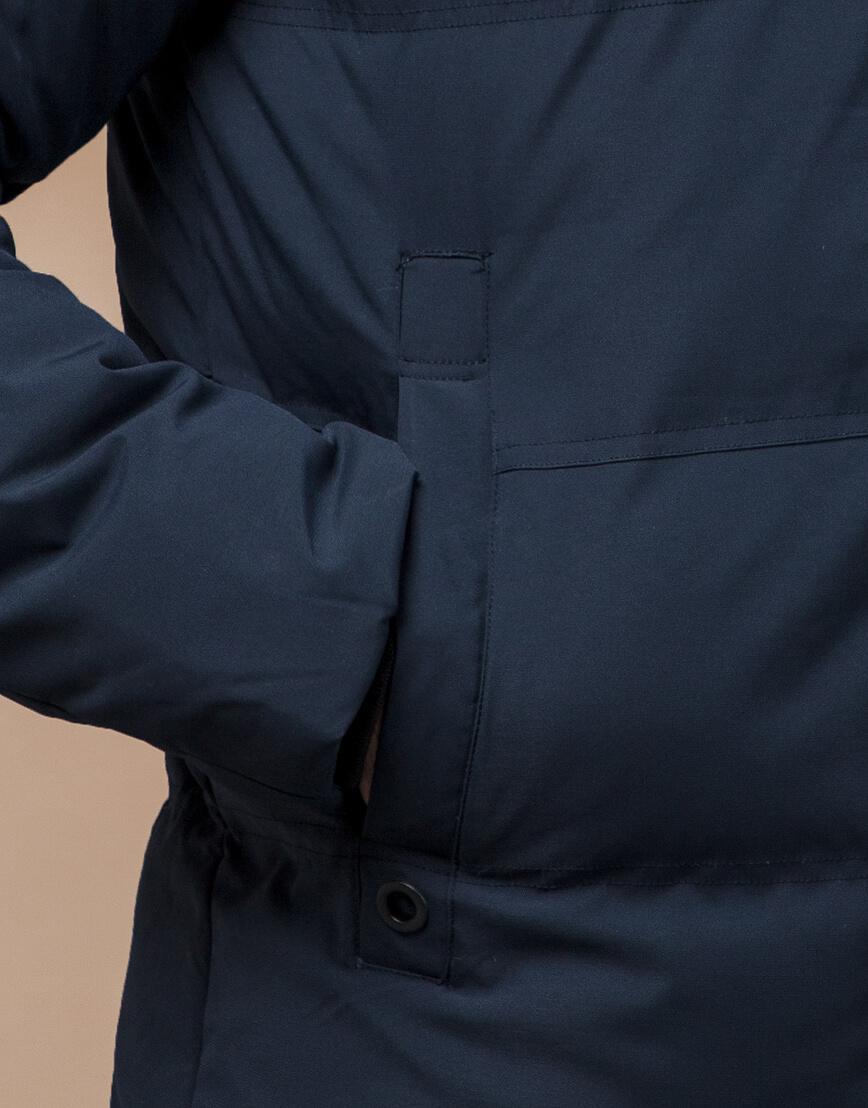 Темно-синяя куртка молодежная оригинальная модель 25270 фото 6
