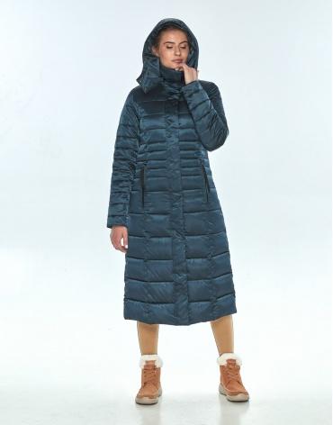 Зелёная куртка женская Ajento длинная на зиму 21375 фото 1