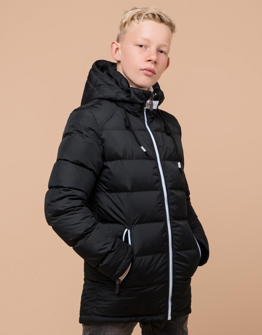 Куртка оригинальная детская цвет графит модель 60455 оптом фото 3